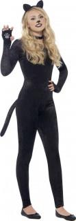 Sexy Catsuit für Damen Katzen-Overall schwarz
