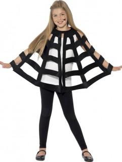 Spinnen-Cape Umhang für Kinder schwarz