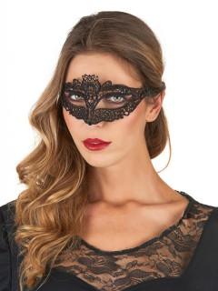 Venezianische Augenmaske Spitze schwarz
