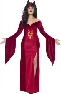 Teuflische Königin Damenkostüm rot
