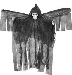 Skelettfigur Todesengel zum Aufhängen schwarz-weiss 50cm