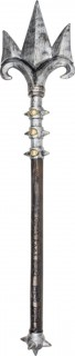 Teuflischer Dreizack Halloween Waffe braun-silber 100cm