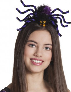 Spinnen-Haarreif violett