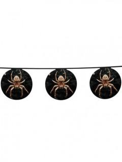 Spinnen Girlande - Halloween schwarz-orange 4 m