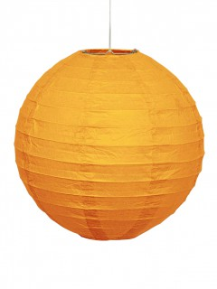 Halloween-Papierlaterne orange 25cm