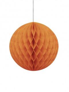 Wabenball Halloween Deckendekoration orange 20 cm