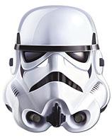 Stormtrooper™ Lizenzmaske Star Wars™ für Erwachsene weiss-schwarz