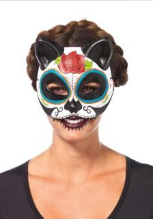 Tag der Toten Maske Katzen-Maske bunt