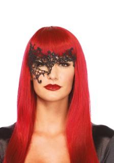 Venezianische Augenmaske für Damen schwarz