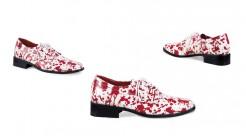 Blutverschmierte Anzugsschuhe für Herren rot-weiß