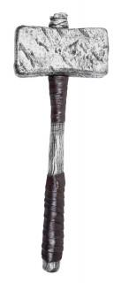 Thor-Hammer silbern-braun