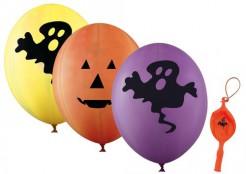 Halloween Ballons Riesenballons 4 Stück gelb-lila-orange 45 cm