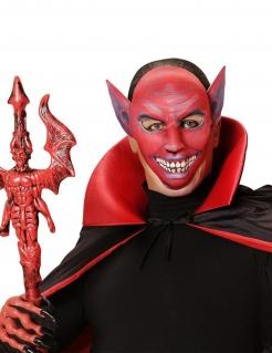 Teufel Halloween Gesichtsmaske rot