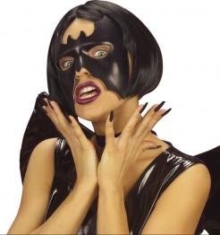 Fledermaus Augen-Maske Halloween schwarz