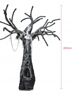 Verwunschener Horror Baum Halloween Deko schwarz-grau 180x200 cm
