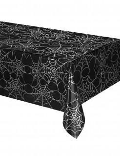 Spinnennetz Tischdecke - Halloween schwarz-weiss 135 x 270 cm