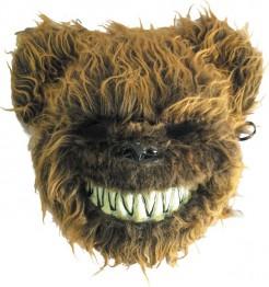 Halloween-Bärenmaske Horrormaske braun