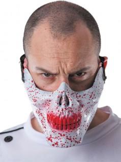 Halbmaske blutiger Schädel Halloween