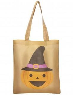 Süßigkeiten-Tasche Halloween-Tasche beige-orange-schwarz 43x38cm
