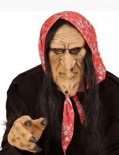 Maske Alte Hexe für Erwachsene Halloween