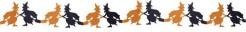 Hexen Girlande Halloween Party-Deko schwer entflammbar schwarz-orange 300x22x0,5cm