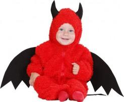 Teufel Baby und Kleinkinder-Kostüm rot-schwarz