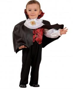 Dracula Karneval Kinderkostüm schwarz-rot-weiss
