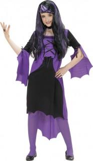 Vampir-Mädchen Kinder-Kostüm lila-schwarz