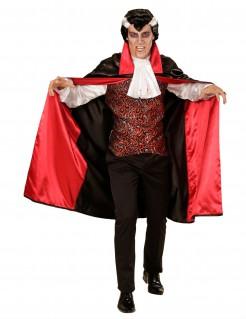 Graf Dracula Vampir-Adeliger Halloween Kostüm für Herren schwarz-rot-weiss