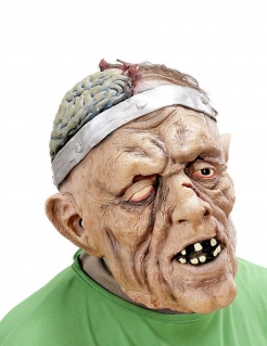 Offenes Gehirn Maske Zombie-Patient bunt