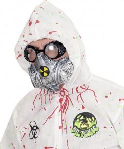 Biohazard Gasmaske silber-gelb