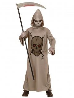 Unheimlicher Sensenmann Halloweenkostüm für Kinder grau