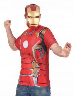 Iron Man™-Kostüm für Erwachsene rot-gold-silber