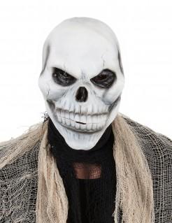 Schädel Maske für Erwachsene Halloween weiss-grau