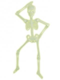 UV-leuchtendes Skelett Halloween Deko neongelb 92cm