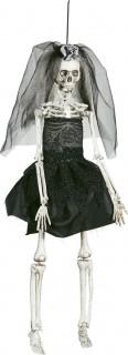 Skelett-Braut Halloween-Hängedeko schwarz-weiss 42cm