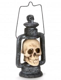 Halloween-Laterne mit Totenkopf bunt 35 cm