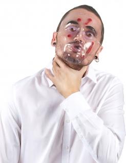 Blutige Maske mit Einschusslöchern Halloween