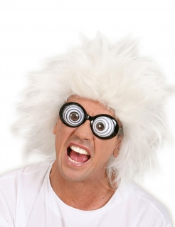 Brille Funbrille Irrer Blick schwarz