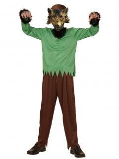 Werwolf Halloween Kinderkostüm braun-grün