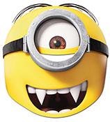 Minions™-Vampirmaske für Kinder Pappmaske gelb 22x21cm