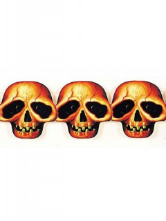 Totenkopf Girlande Halloween Party-Deko bunt 250x5cm