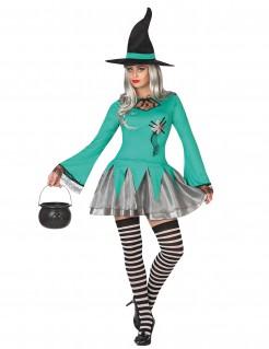 Süsse Hexe Damenkostüm Zauberin mint-silber