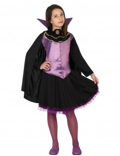 Süßes Vampirmädchen Halloween Kinderkostüm schwarz-lila