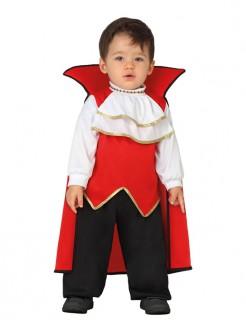 Süsser Vampir Halloween-Babykostüm Kleindkind schwarz-rot-weiss