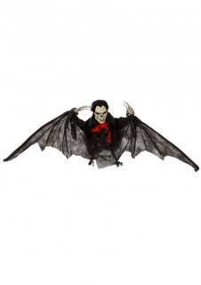 Skelett Fledermaus Halloween Party-Deko schwarz-weiss 45cm