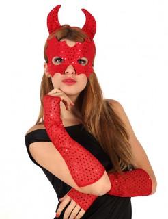Rotes Teufel-Set rot