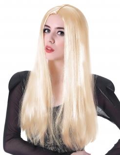 Glatte Langhaar-Perücke für Damen blond 60 cm