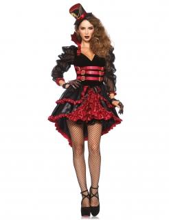 Heisse Steampunk-Vampirin Damenkostüm schwarz-rot