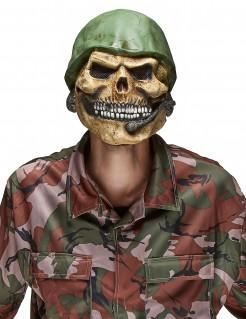 Totenkopf Maske aus Latex Toter Pilot Halloween Kostümaccessoire